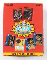 1991-92 Fleer New Update Series Basketball Card Box at PristineAuction.com