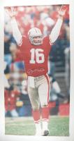 Joe Montana Signed 49ers 32x60 Canvas Print (Fanatics Hologram) at PristineAuction.com