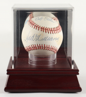 Ted Williams & Bob Feller Signed OAL Baseball with Display Case (PSA LOA) at PristineAuction.com