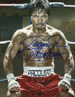 """Manny Pacquiao Signed 8x10 Photo Inscribed """"Pacman"""" (Pacquiao COA) at PristineAuction.com"""