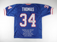 Thurman Thomas Signed Career Highlight Stat Jersey (Beckett COA) at PristineAuction.com