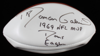 "Roman Gabriel Signed NFL Football Inscribed ""1969 NFL MVP"", ""Rams"" & ""Eagles"" (JSA COA) at PristineAuction.com"