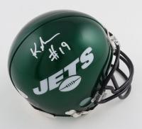 Keyshawn Johnson Signed Jets Mini Helmet (Beckett Hologram) at PristineAuction.com