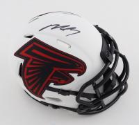 Michael Vick Signed Falcons Lunar Eclipse Alternate Speed Mini Helmet (JSA COA) at PristineAuction.com