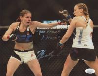 "Katlyn Chookagian Signed UFC 8x10 Photo Inscribed ""You Reach I teach"" (JSA Hologram) at PristineAuction.com"