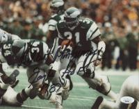 "Wilbert Montgomery Signed Eagles 8x10 Photo Inscribed ""Eagles HOF 1987"" (JSA Hologram) at PristineAuction.com"