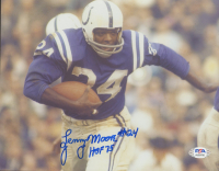 """Lenny Moore Signed Colts 8x10 Photo Inscribed """"HOF 75"""" (PSA COA) at PristineAuction.com"""