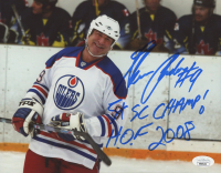 """Glenn Anderson Signed Oilers 8x10 Photo Inscribed """"5x SC Champ!"""" & """"H.O.F. 2008"""" (JSA Hologram) at PristineAuction.com"""