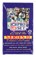 1991 Pro Set Series 2 Football Wax Box with (36) Packs at PristineAuction.com