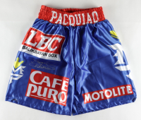 """Manny """"Pacman"""" Pacquiao Signed Boxing Trunks (Pacquiao COA) at PristineAuction.com"""