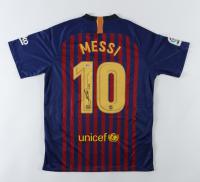 "Lionel Messi Signed FC Barcelona C Jersey Inscribed ""Leo"" (Beckett COA) at PristineAuction.com"