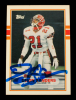 Deion Sanders Signed 1989 Topps Traded #30T RC (Beckett Hologram) at PristineAuction.com
