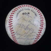 Giants Reunion ONL Baseball Multi-Signed by (27) with Willie Mays, Willie McCovey, Orlando Cepeda, Lefty Gomez, Tony Conigliaro (JSA LOA) at PristineAuction.com