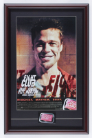 """""""Fight Club"""" 15x23 Custom Framed Print Display With Pre Movie Opening Employee Pin at PristineAuction.com"""