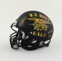 "Robert O'Neill Signed ""U.S. Navy SEAL"" Matte Black Mini Helmet Inscribed ""Never Quit!"" (PSA COA) (See Description) at PristineAuction.com"