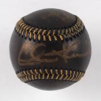 "Charlie Sheen Signed OML Black Leather Baseball Inscribed ""Vaughn"" (Beckett Hologram) at PristineAuction.com"