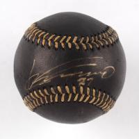 Vladimir Guerrero Signed OML Black Leather Baseball (PSA COA) at PristineAuction.com