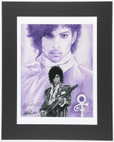 """Anthony Douglas Signed """"Prince"""" 16x20 Custom Matted LE Lithograph Display (Pristine Auction LOA) at PristineAuction.com"""