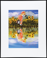 """Anthony Douglas Signed """"Sunflower"""" 16x20 Custom Matted LE Lithograph Display (Pristine Auction LOA) at PristineAuction.com"""