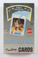 1989-90 First Edition Collegiate Collection Coca-Cola North Carolina Tar Heels Trading Card Box of (16) Packs at PristineAuction.com