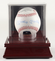 """Mickey Mantle Signed OML Yankees """"Fotoball"""" Baseball with Display Case (PSA LOA) at PristineAuction.com"""