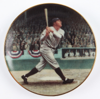 Set of (2) LE Bradford Exchange Mini Porcelain Plate Collection Featuring Babe Ruth & Lou Gehrig at PristineAuction.com