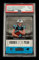 Christian McCaffrey 2017 Panini Contenders Rookie of the Year Contenders #RY8 (PSA 9) at PristineAuction.com