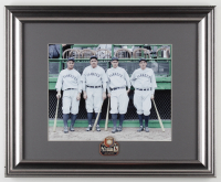 Yankees Murderers Row 13x16 Custom Framed Photo Display with Vintage 1927 World Series Champions Pin at PristineAuction.com