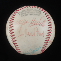 Baseball Signed by (19) with Joe Cronin, Jim Bunning, Ernie Banks, Bob Feller (JSA LOA) at PristineAuction.com