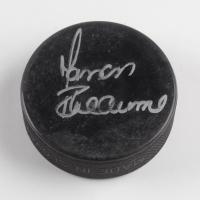 Manon Rheaume Signed Hockey Puck (JSA COA) at PristineAuction.com