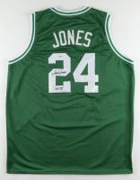 "Sam Jones Signed Jersey Inscribed ""HOF 83"" (PSA COA) at PristineAuction.com"