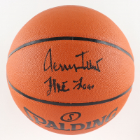 """Jerry West Signed NBA Silver Series Basketball Inscribed """"The Logo"""" (PSA COA) at PristineAuction.com"""