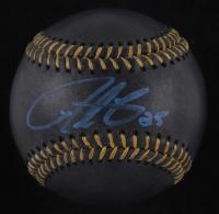Derrick Lee Signed OML Black Leather Baseball (JSA Hologram) at PristineAuction.com