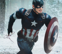 """Chris Evans Signed """"Captain America: The Winter Soldier"""" 12x14 Photo (Beckett COA) (See Description) at PristineAuction.com"""