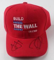 """Ivanka Trump & Donald Trump Jr. Signed """"Build The Wall Trump"""" Adjustable Hat (JSA COA) at PristineAuction.com"""