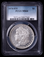 1878 Morgan Silver Dollar 8 Tailfeathers (PCGS MS64) at PristineAuction.com