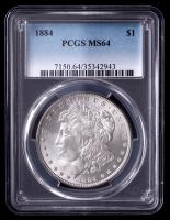 1884 Morgan Silver Dollar (PCGS MS64) at PristineAuction.com