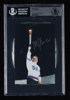 Mike Eruzione Signed Olympic 4x6 Photo (BGS Encapsulated) at PristineAuction.com