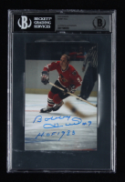 """Bobby Hull Signed Black Hawks 4x6 Photo Inscribed """"HOF 1983"""" (BGS Encapsulated) at PristineAuction.com"""