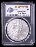 2017 American Silver Eagle $1 One Dollar Coin - First Strike (PCGS MS70) at PristineAuction.com