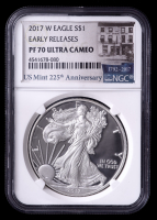 2017-W American Silver Eagle $1 One Dollar Coin - Early Releases (NGC PF70 Ultra Cameo) at PristineAuction.com