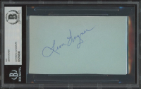 Leon Wagner Signed 3x5 Cut (BGS Encapsulated) at PristineAuction.com