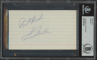 """Gus Bell Signed 3x5 Index Card Inscribed """"Best Wishes"""" (BGS Encapsulated) at PristineAuction.com"""