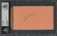 Gene Conley Signed 3x5 Index Card (BGS Encapsulated) at PristineAuction.com