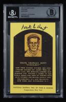 Waite Hoyt Signed Hall of Fame Plaque Postcard (BGS Encapsulated) at PristineAuction.com