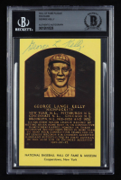 George Kelly Signed Hall of Fame Plaque Postcard (BGS Encapsulated) at PristineAuction.com