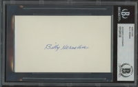 Billy Herman Signed 3x5 Index Card (BGS Encapsulated) at PristineAuction.com