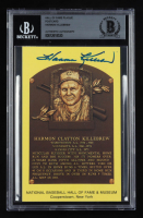 Harmon Killebrew Signed Hall of Fame Plaque Postcard (BGS Encapsulated) at PristineAuction.com