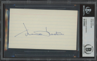 Frank Gustine Signed 3x5 Index Card (BGS Encapsulated) at PristineAuction.com
