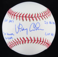 Vinny Castilla Signed OML Baseball with (4) Career Highlight Stat Inscriptions (PSA Hologram) at PristineAuction.com
